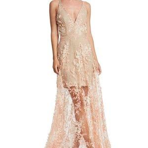 Dress the Population Floral Applique Dress